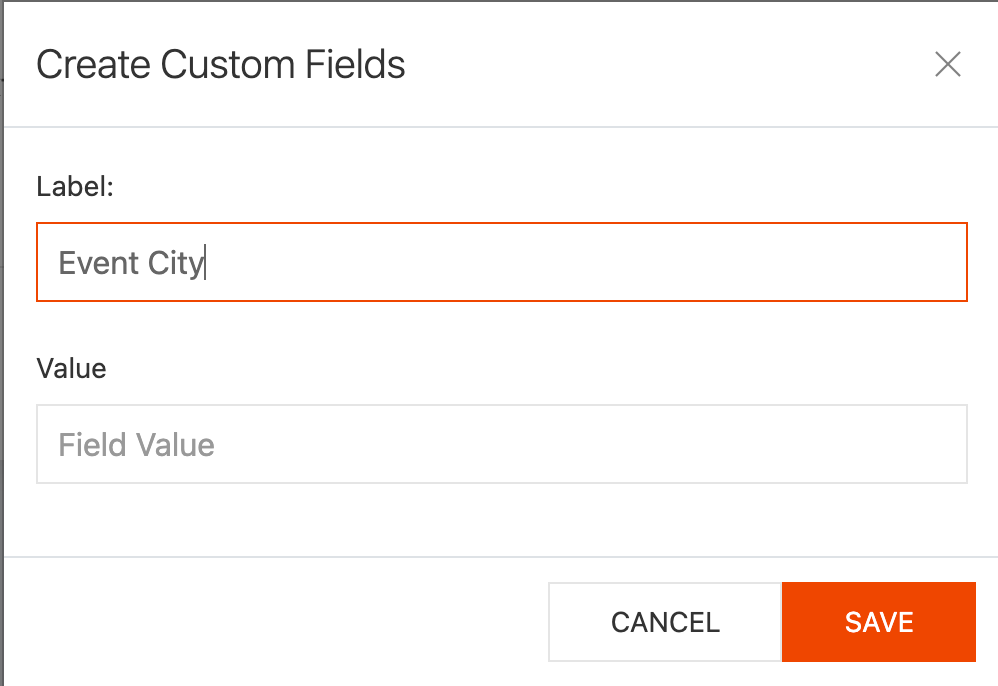 Adding labels and values in Connect 365 custom field creation
