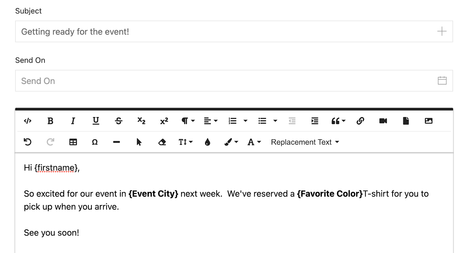 Connect 365 custom fields allow you to personalize your email outreach campaigns without creating multiple campaigns.